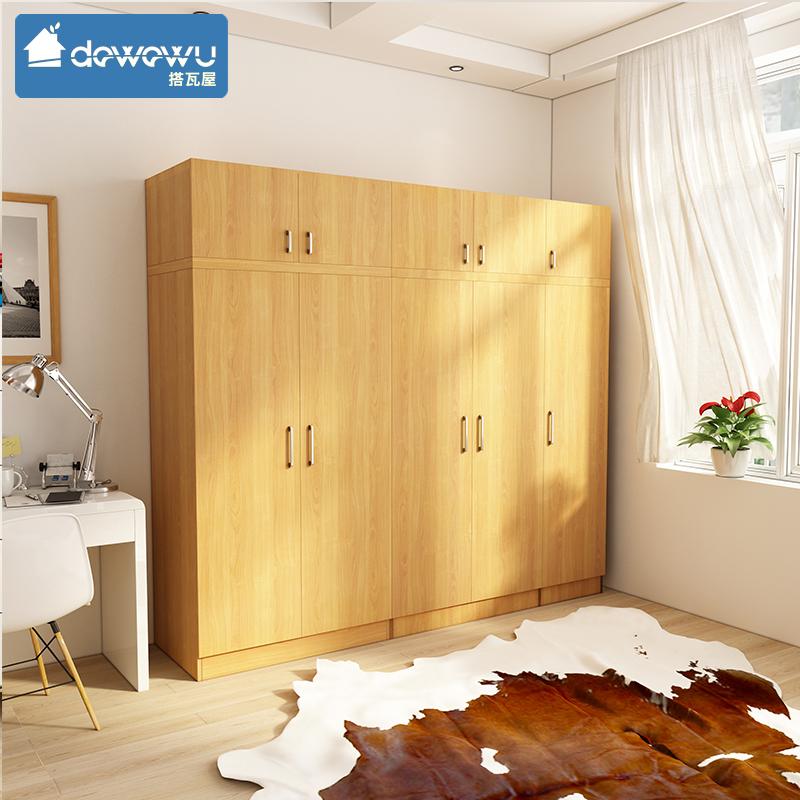 卧室家具简约现代双门/三门衣柜北欧风格家用