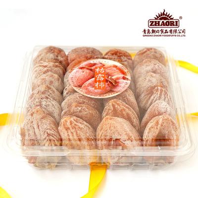 ZHAORI枯露柿出口品质1kg透明盒简易装柿子饼 柿干柿饼甜软可口