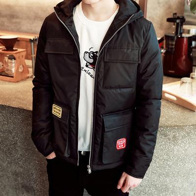 男士2016冬季新款加厚棉衣外套冬天青少年韩版棉服修身短款棉袄潮