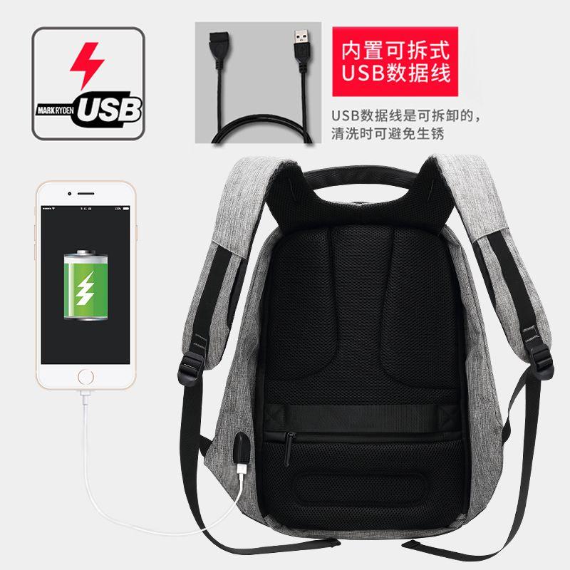 韩版功能防盗背包男可放旅行箱15.6寸电脑双肩包男个性防水相机包