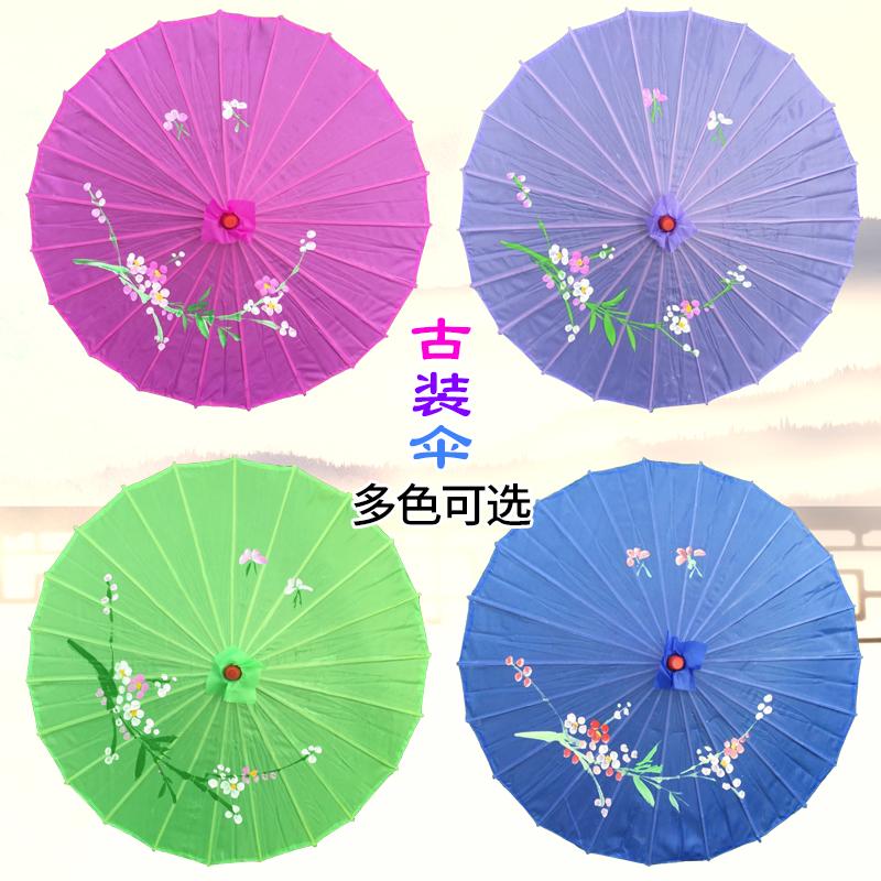 新款古装伞舞蹈伞绸布伞透明娟布古装伞道具透明伞民族服装舞台装