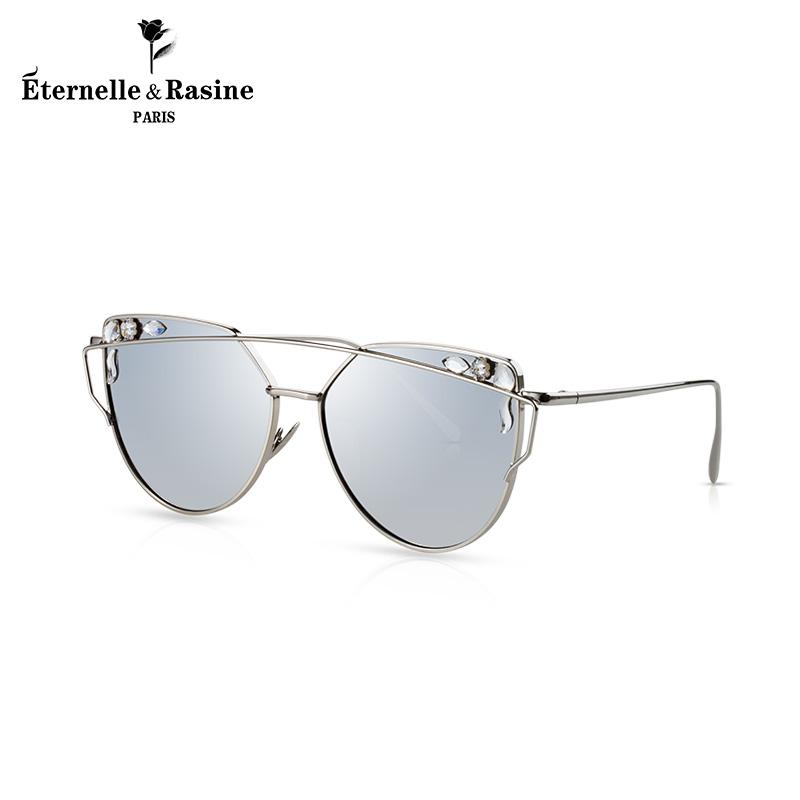 法国Eternelle潮流太阳镜 欧美风尚水银墨镜夏季新款时尚配饰眼镜