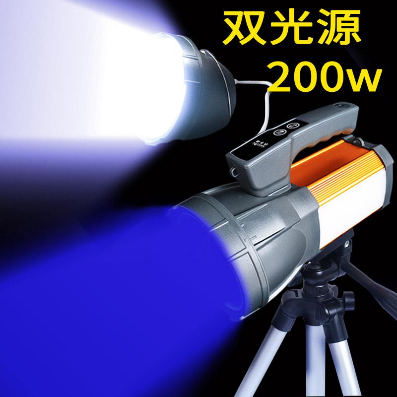 钓鱼鱼灯夜钓灯超亮强光蓝光充电大功率夜光台钓 200w 沃尔森双光源