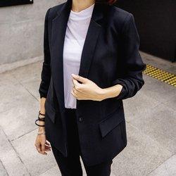 2016秋季新款韩版职业小西装休闲长袖两件套时尚西服显瘦套装女装