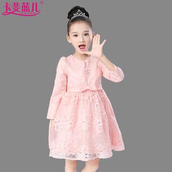 儿童连衣裙 夏装娱乐网站白菜网站大全长袖蕾丝公