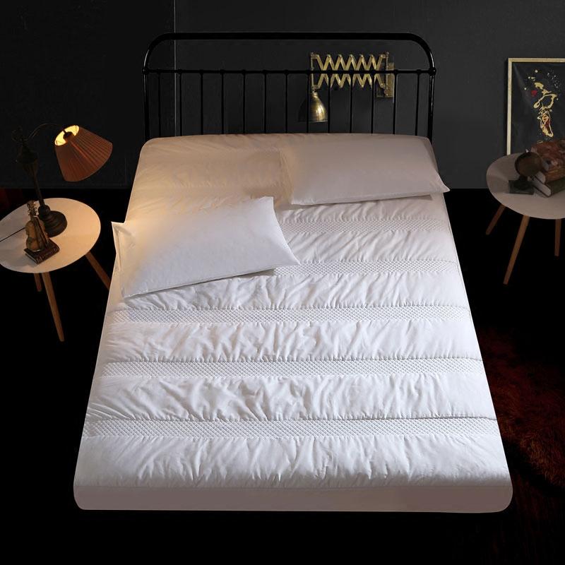 防滑床罩纯棉床垫加厚护垫席梦思护套 全棉床笠