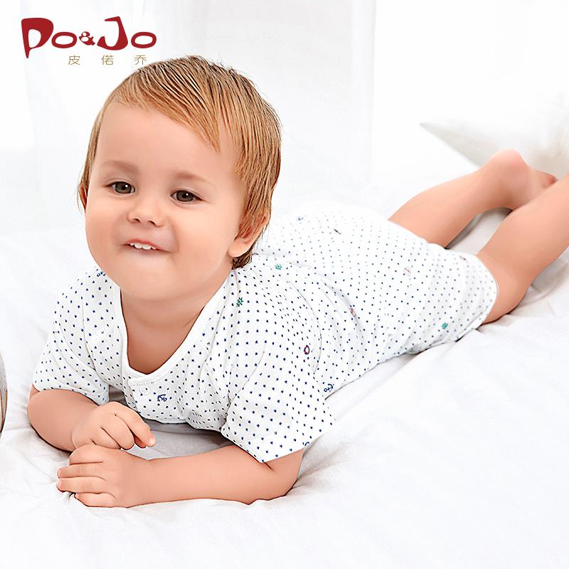 衣服童装短袖连体皮诺乔新生儿婴儿纯棉夏装