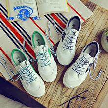 环球帆布鞋女学生韩版百搭平底原宿ulzzang小白板鞋2017春季新款