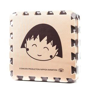 明德米咖素面樱桃小丸子泡沫拼图地垫儿童游戏爬行垫爬爬垫9片/包