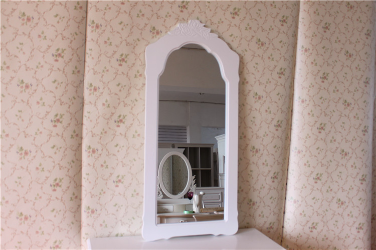 欧式简约时尚实木穿衣镜半身镜落地镜悬挂镜商场试衣