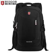 瑞戈瑞士军刀双肩包男士韩版旅行包学生书包商务休闲电脑背包