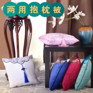 A古典夏被多用抱枕被子两用靠垫被汽车靠枕被丝绸中国风-中国结款