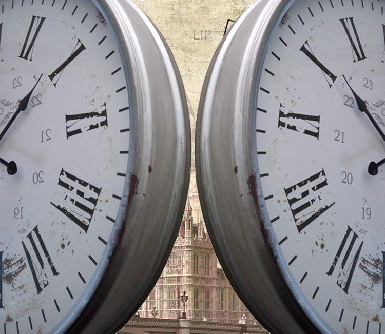 欧式复古田园钟怀旧经典创意座钟挂钟仿古时钟表做旧时钟20寸大钟