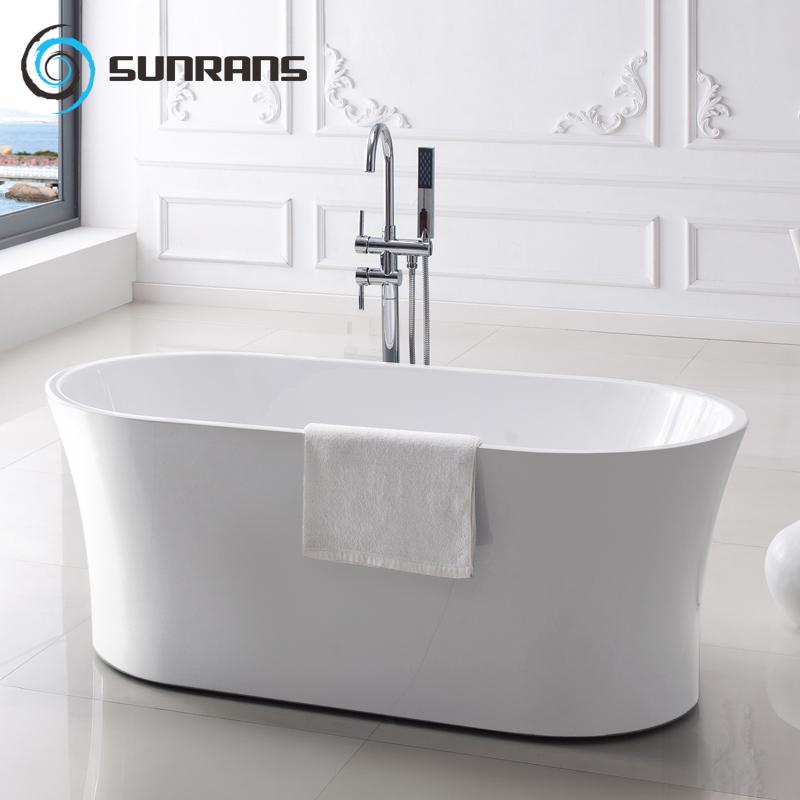 尚雷仕独立式浴缸圆形贵妃欧式亚克力成人保温浴池小