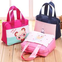 时尚小手提包日韩新款潮流女士布包休闲女包青年逛街包饭盒包拎包