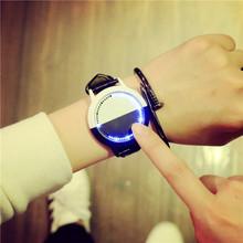 香港夜光个性智能日韩原宿复古发光国产ulzzang休闲皮带情侣手表