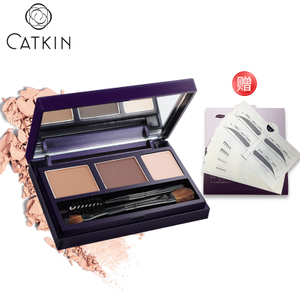 Catkin/卡婷三合一立体3色塑形眉粉 防水持久不晕染带眉刷一字眉