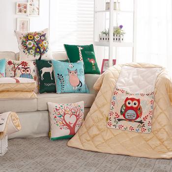 加厚保暖卡通多功能抱枕被子两用汽车靠垫可爱办公室午睡毯子枕头