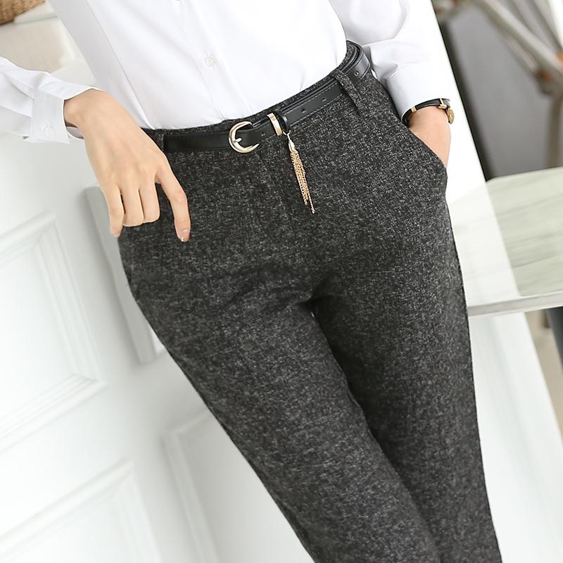 秋季新款修身职业装女装套装套裤OL女士正装面试工装西裤 直筒裤
