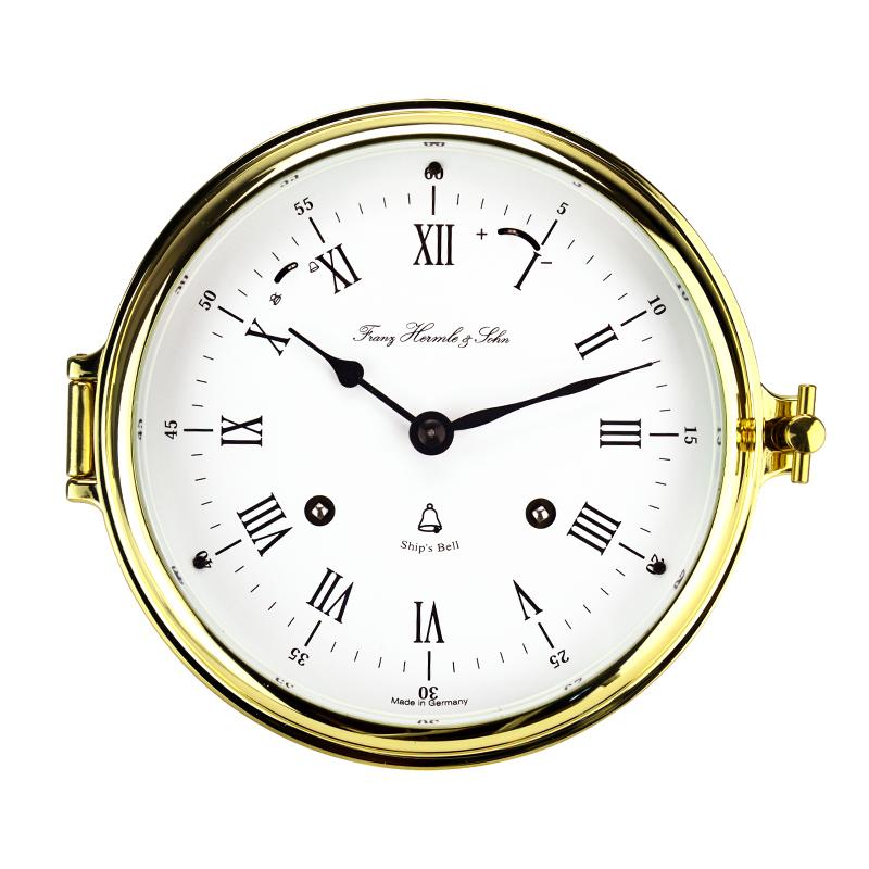 赫姆勒(Hermle)黄铜外壳8天动力存储机械船钟挂钟35065