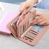 手包小清新 大容量多功能拉链个性 长款 2017新款 日韩版 女士钱包女
