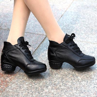 伯尔俪广场舞蹈鞋女 爵士舞鞋低帮女鞋增高运动 软底健身 跳舞鞋