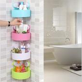 卫生间置物架壁挂吸盘免打孔厕所洗手间浴室收纳架吸壁式三角