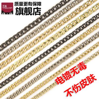 女包配件包包链子金色链条金属包链肩带包带子斜跨金属链扁链