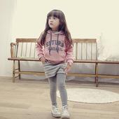 童装2014女童套装春秋新款韩版运动休闲长袖卫衣条纹裙裤两件套