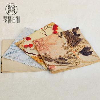 琴瑟在御中国风女士手帕手绢纯棉