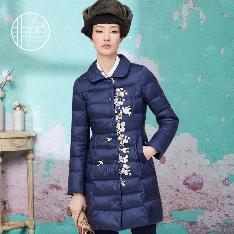 时尚修身女士中长羽绒服冬季新品