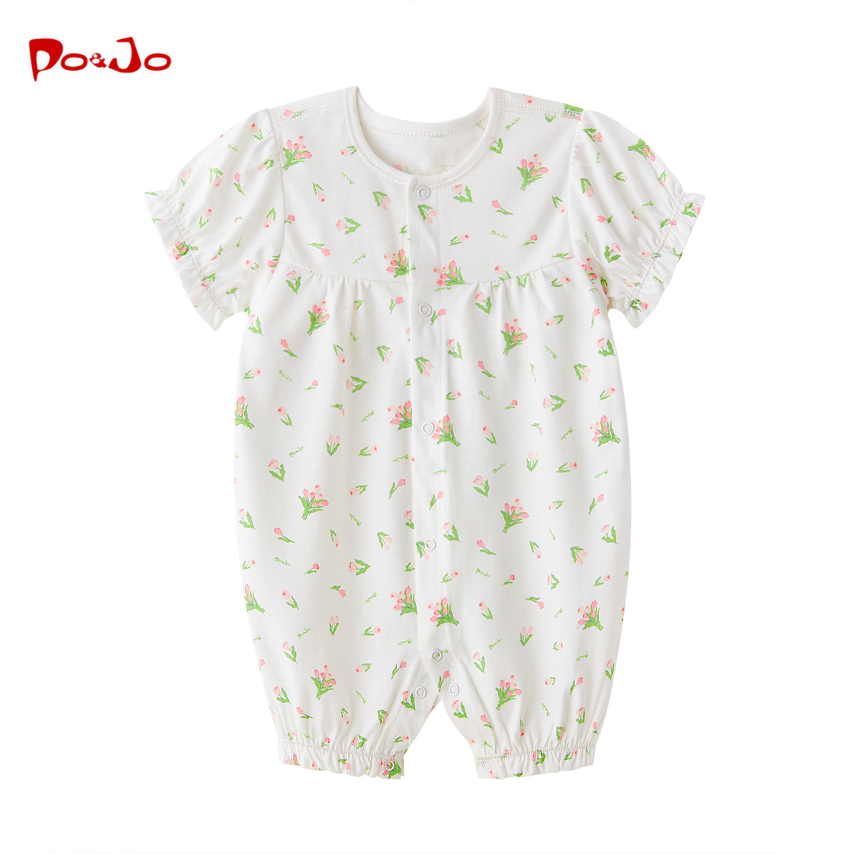 哈衣爬爬服连体衣服宝宝皮偌乔夏季夏装短袖新生儿纯棉婴儿