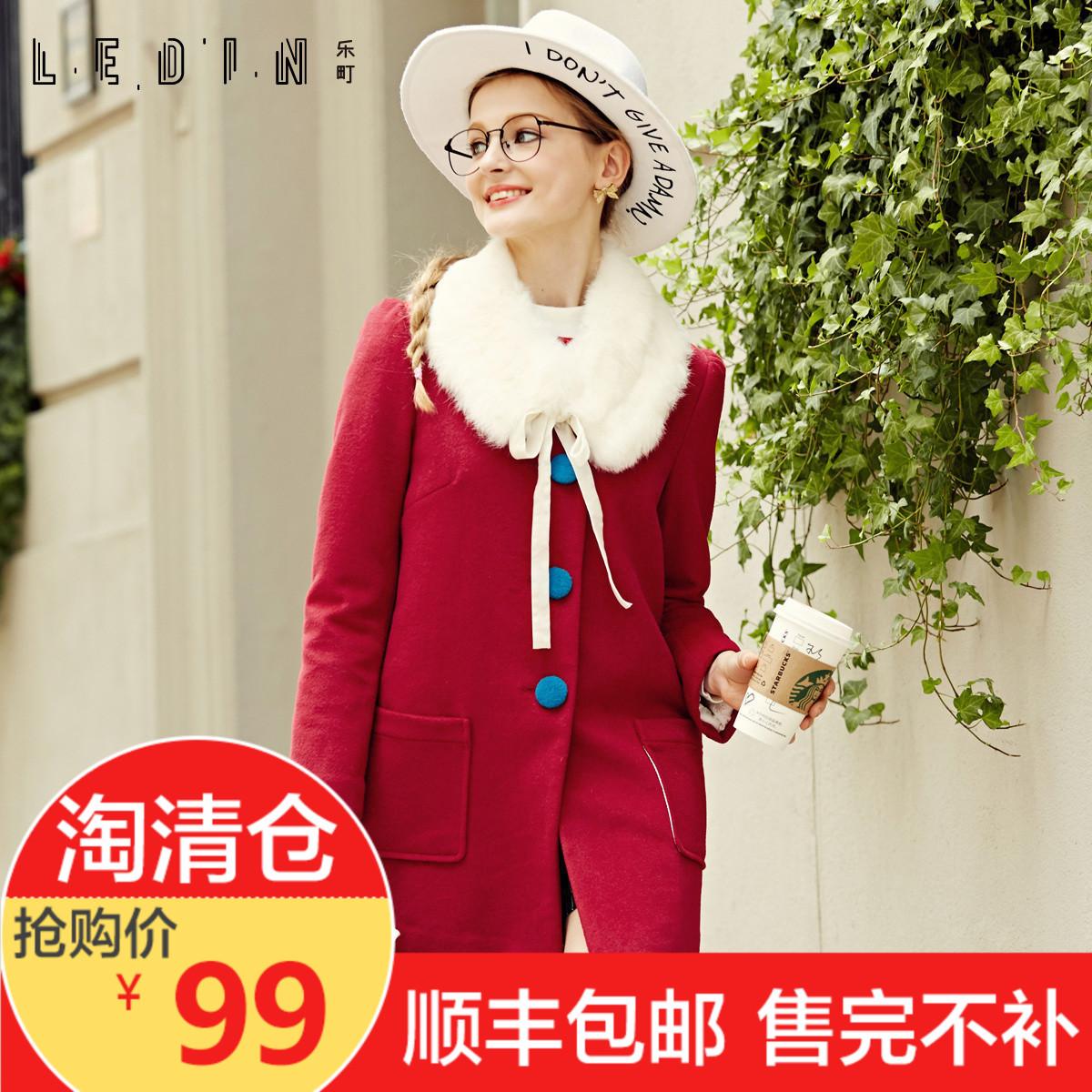 羊毛女中女装毛呢外套冬装兔毛呢子长款