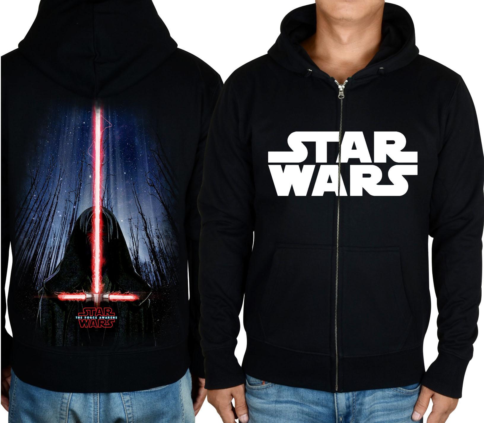 星球大战Star Wars 7原力觉醒达斯摩尔光剑拉链休闲运动卫衣