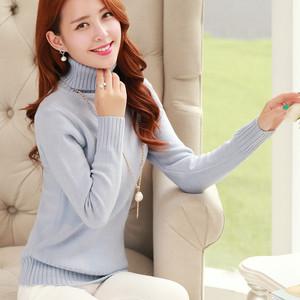 2015秋冬新款 打底高领毛衣女套头加厚 韩版修身针织打底衫 保暖