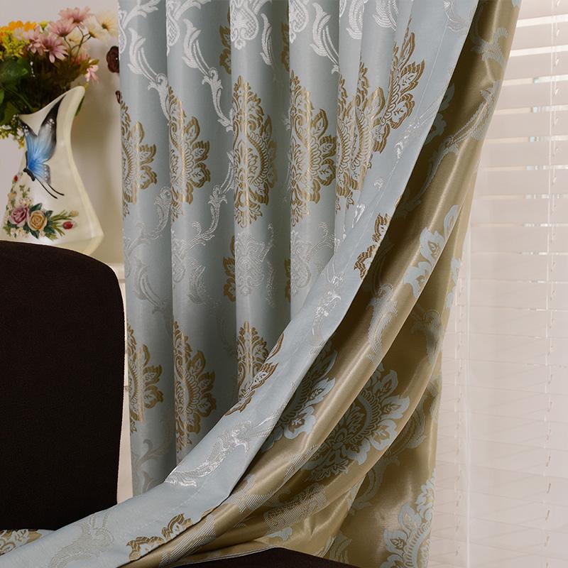 现代简约简欧式窗帘成品落地飘窗卧室客厅奢华大气全遮光布料定制