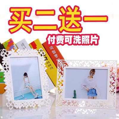 简约镂空摆台相框6寸7寸8寸10寸婚纱儿童写真相架 创意宜家照片框