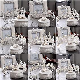 新娘奢华结婚巴洛克皇冠头饰水钻珍珠大发箍婚纱配饰选美王冠礼物
