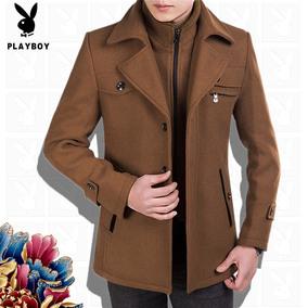 花花公子男装秋冬装2016保暖中年男羊毛呢子夹克中长款爸爸装外套