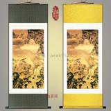 丝绸画已装裱卷轴画包邮装饰画蜜蜂猴子猴年挂画沈铨蜂猴图