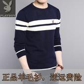 【天天特价】冬季青年男士韩版羊毛针织打底衫加绒加厚修身毛衣