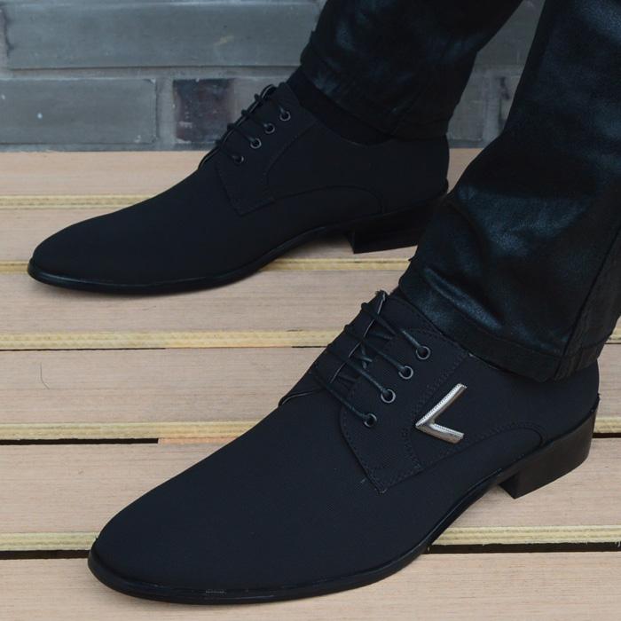 2017新款流行男鞋韩版英伦时尚商务尖头皮鞋男正装皮鞋发型师潮鞋
