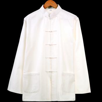 纯棉太极衬衫男唐装汉服男士长袖