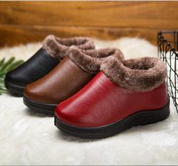 冬老北京布鞋女棉鞋套脚软底妈妈鞋加绒加厚保暖中老年一脚蹬棉靴