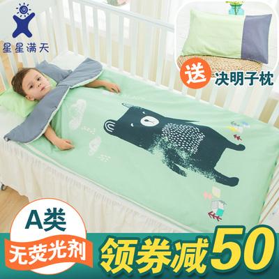 婴儿睡袋秋冬儿童防踢被神器春秋薄棉宝宝睡袋中大童加厚冬季四季