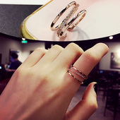 食指戒指女日韩学生指环潮人尾戒简约开口关节戒个性大气韩国饰品