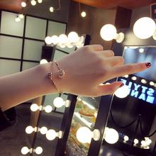 玲珑水晶女人心欧美日韩版甜美简约饰品首饰学生手链手饰手镯女