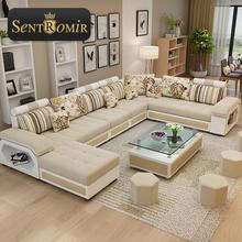 现代布艺沙发组合可拆洗布沙发大小户型客厅整装转角储物功能沙发