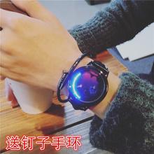 韩版创意简约个性智能LED夜光触摸屏手表炫酷男女学生星空情侣表