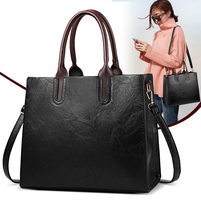 女包2017新款手提包大包时尚潮流简约单肩斜挎公文包中年女士包包